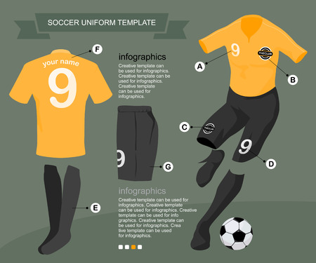 Soccer uniform template for your football club, illustration by vector design.