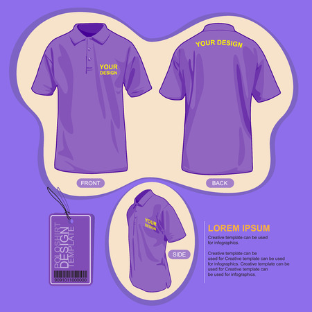 polo shirt: Polo shirt uniform template, illustration by vector design. Illustration