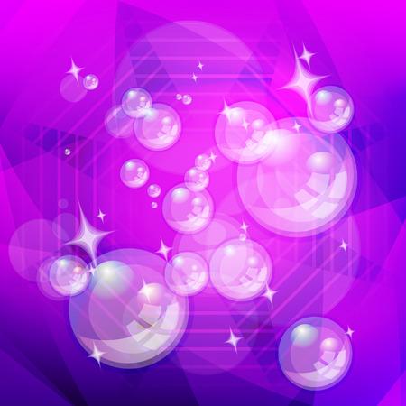 shiny background: Abstract background shiny bubbles. Illustration