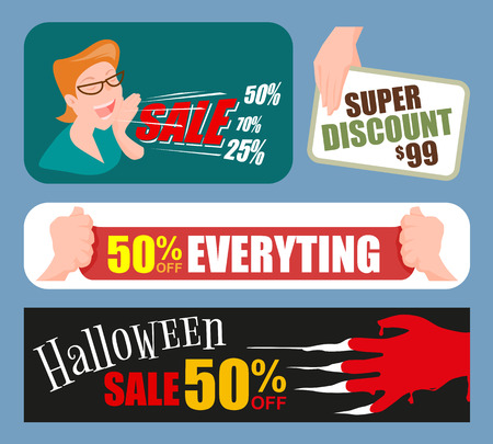 Collection, Sale banners design, vector illustration.