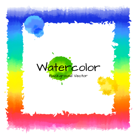 Rainbow with watercolor design