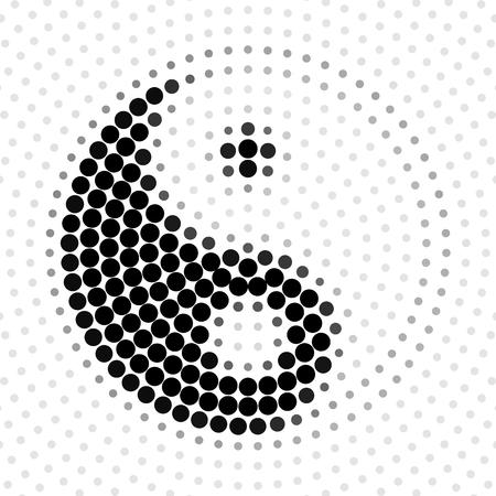 Motif de demi-teintes abstrait, Yin Yang, illustration vectorielle et design.