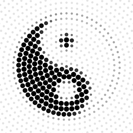Abstract background halftone pattern, Yin Yang, vector illustration and design.