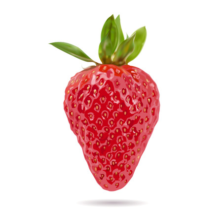 Strawberry, colorful fruits and high nutritional value, vector illustration and design.