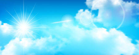 Blue sky and sun light, vector illustration and design.