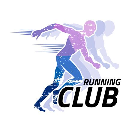 Running club logo for template, Vector illustrator and flat design. Illustration
