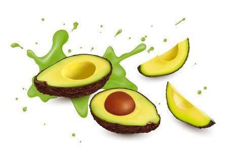 Avocado is a fruit that is full of benefits and nutritional value, vector illustration and design. Illustration