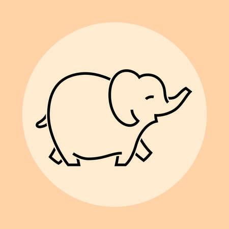 Elephant icon, vector illustration and simple design. Illustration