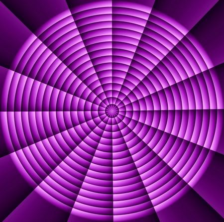 Spider web, hypnotic spirals, military sign crosshair: purple