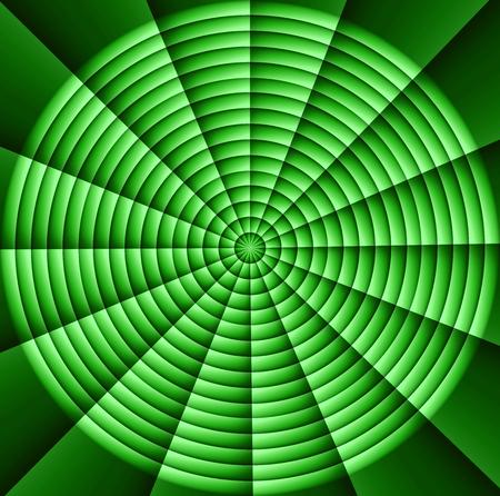 of helloween: Spider web, hypnotic spirals, military sign crosshair: green Stock Photo