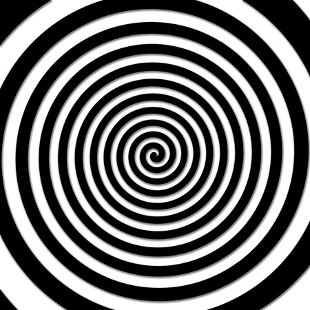 volute: Black and white hypnotic spiral vortex.