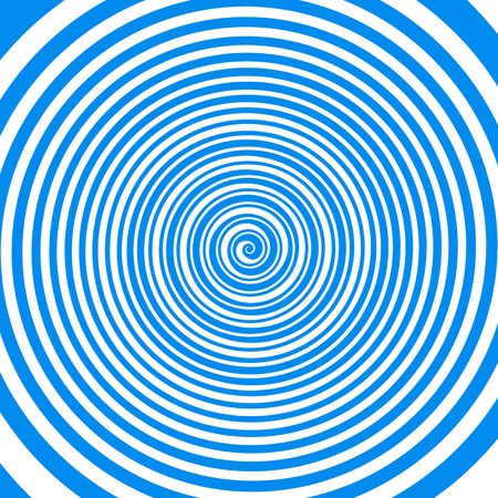 Crazy magical lolipop candy blue and white hypnotic spiral pattern