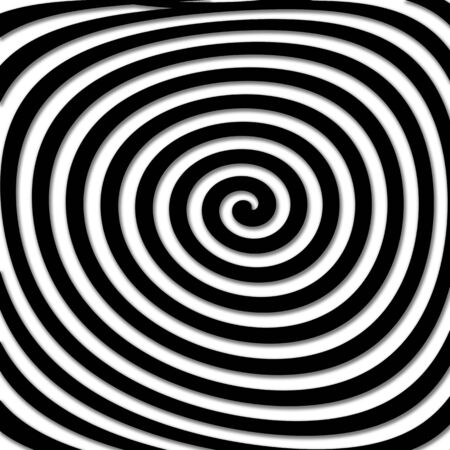 Abstract distorted hypnotic twirling shape. Hypnotic psychedelic experience Stock Photo