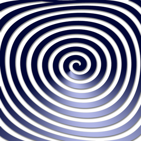 volute: Abstract distorted hypnotic twirling shape. Hypnotic psychedelic experience Stock Photo