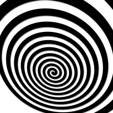 volute: Black and white hypnotic spiral vortex hypnotic psychedelic experience.