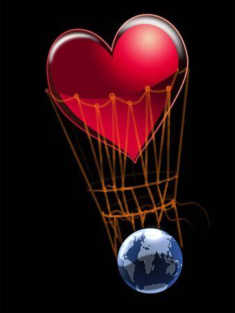 madre tierra: Amor - el fundamento de la vida en la tierra.