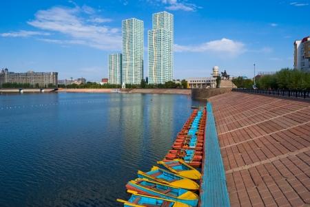 astana: Kazakhstan. Astana.  Embankment.