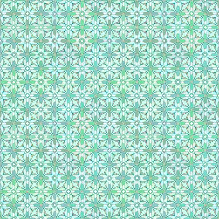 the greenish: Seamless floral geometrical pattern in greenish colors