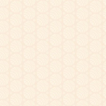 Seamless Pattern of Pale Ivory Ornament of Striped Spheres on Light Beige Background 矢量图像