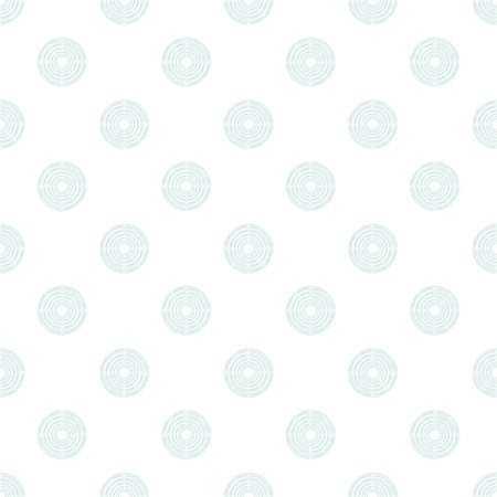 puerile: Seamless pattern of polka dot in mint circles of multiple lines on white background Illustration