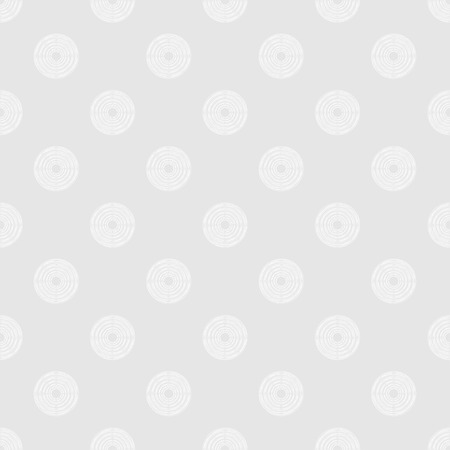 puerile: Seamless pattern of polka dot in white circles of multiple lines on light grey background