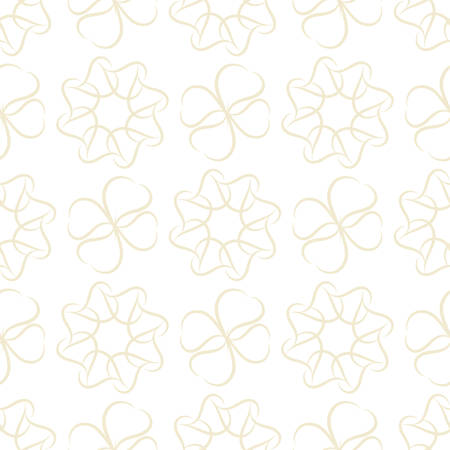 pale cream: Seamless pattern of light beige leaves or hearts on white background