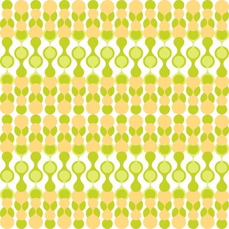 greenish: Greenish and yellow-beige stylized knitting metaball seamless pattern