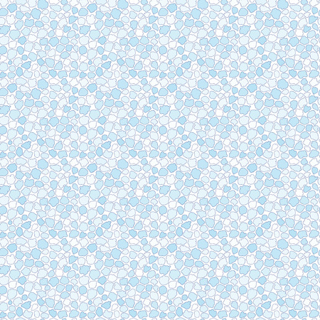 pebbles: Seamless pattern of blue spots, drops, blots and pebbles on white background. Illustration