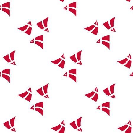 Seamless de drapeaux volants stylisées du Danemark. Constitution ou Journée nationale seamless plat. Couleurs de drapeau danois. Happy day Constitution du Danemark fond.