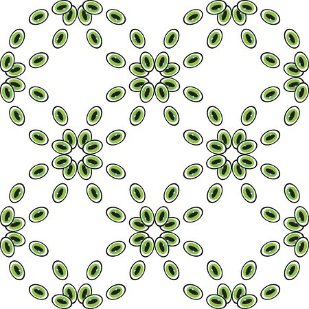 pebbles: Abstract eyes or pebbles seamless pattern. Green beads or droplets abstract backdrop. Can be used for website design, pattern fill, packaging, clothing, printing on surfaces. Illustration