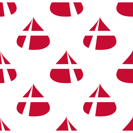 Danish flag seamless pattern. Ilustrace