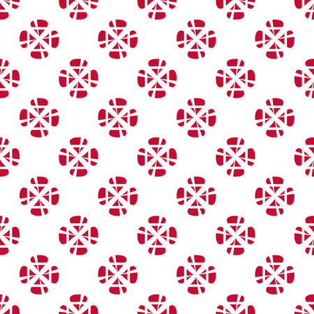 Danish flag flower pattern.