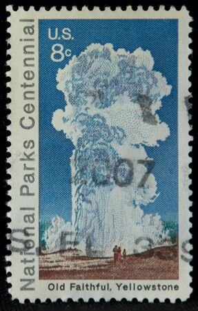 stamp of old faithful
