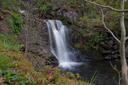 Scottish Highlands Waterfall Stok Fotoğraf
