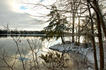 winter on a Canadian lake photo