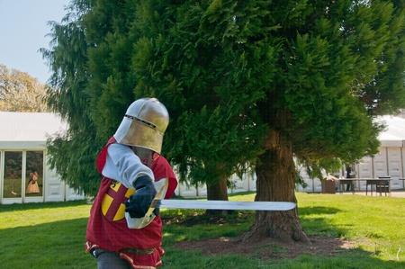 the knight prepares Zdjęcie Seryjne