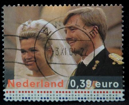 dutch: stamp of a dutch royal couple