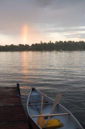 rainbow at the cottage Stock Photo - 13488612