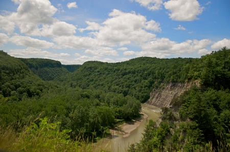 Letchworth State Park in upstate New York has been dubbed the Grand Canyon of the East  Stock Photo - 13541375