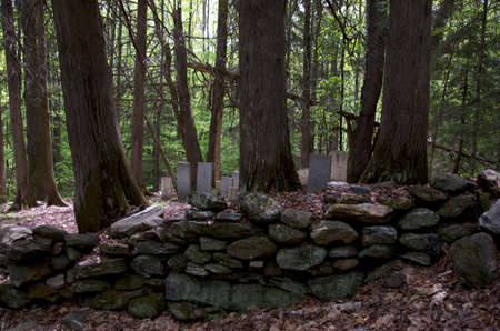 19th century: A 19th Century cemetery in rural Vermont Stock Photo