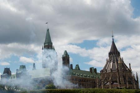 canada day on parliament hill Banco de Imagens