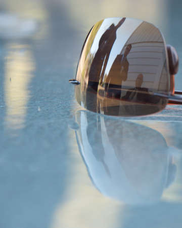 reflection of me in sunglasses