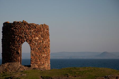 a ruined tower on the fife coast