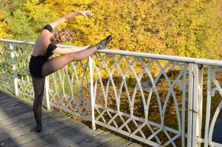 ballet in fall Stock fotó - 16653508