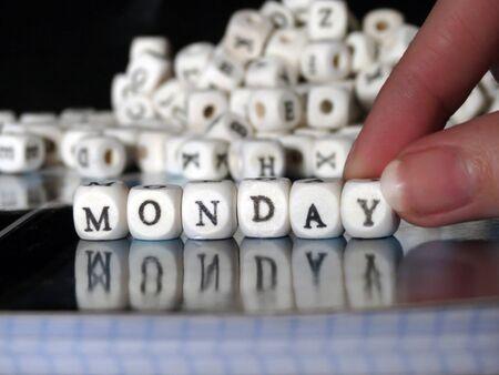 Word block - Monday Фото со стока - 40089762