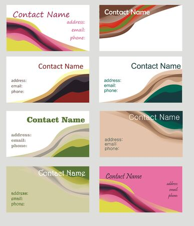 corporations: Business cards Illustration