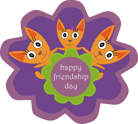 friendship day: happy friendship day Illustration