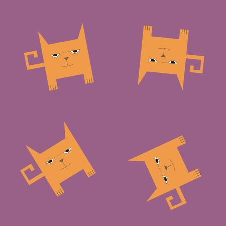underlying: Seamless texture of cats