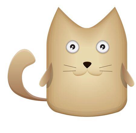 mjau: Very cute kitten - Stock Image Illustration