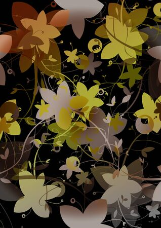 abstract black: Abstract black floral background